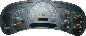 typical gm speedometer cluster